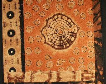 Handmade Art Quilt - Sepia I