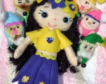 Gingermelon Felt Doll - Snow White and the Seven Dwafts