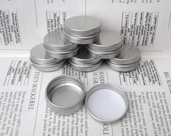 Small Metal Tins, Blank Round Silver Color, 15ml Screw Lidded (A Set Of 100 Boxes)