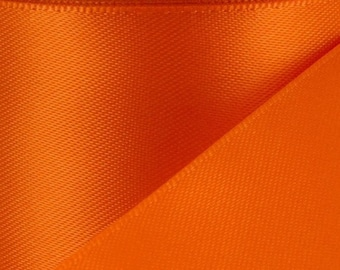 "2.25"" Double Face Satin Ribbon--ORANGE--Your Choice of Sizes--*On Sale Now*"