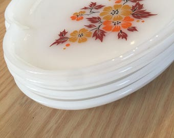 Milk Glass style Vintage Snack Plates (set of 4)