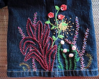 Florida FLOWER POWER Crewel and Brazilian Embroidery PATTERN