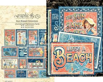 Graphic 45-Sun Kissed Ephemera Journaling Cards