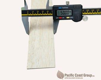 """Balsa Wood Sheet 36"""" (915mm) Long x 2"""" (50mm) Wide / Various Thickness"""