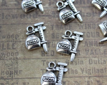 10 Syringe Charms Syringe Pendants Antiqued Tibetan Silver 12 x 17 mm