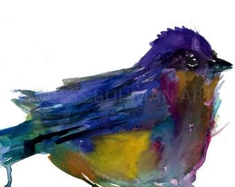 Watercolor Bird Painting Print, Watercolor Bird Print, Watercolor Print, Bird Illustration, Bird Watercolor Art, Nursery Art