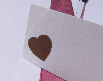 Table Cards Heart Place card White name sign Cream name card wedding Decorations Place cards