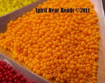 Light Orange Opaque Czech Seed Beads size 11/0 lot of 20 grams
