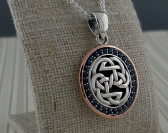 Sterling Silver & 10K Rose Gold Path of Life Pendnt