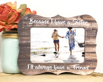 Sister frame, personalized sister, personalized gift for sister, long distance sister, personalized frame, personalized gift, sibling frame