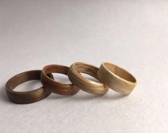 Veneer Wood Rings: Simple Bands