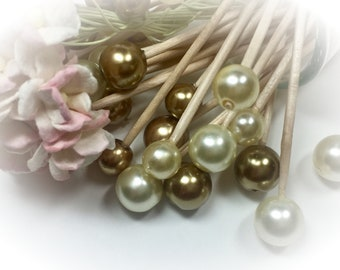 30 Gold Ivory Toothpicks Skewer Pick Wedding Dinner Cocktail Hors d'oeuvre Appetizer Beach Birthday Tea Party Candy Bar Shower Shabby Chic
