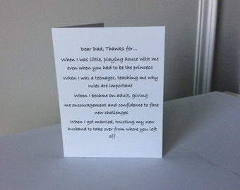 Father's Day card from daughter