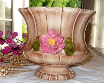 Capodimonte Fine Porcelain Vase with Porcelain Flowers, Italian made Porcelain, Capodimonte Collectible Vase