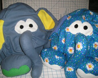 Bean Bag Elephant Chair for Kids - Flannel Fabric with Broadcloth Lining - Washable