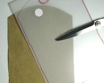 "Grafix Plastic 9"" x 12"", 20pt heavy weight, one sheet"