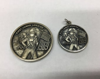 Set of Apollo 11 sterling silver coins
