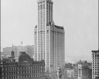 Poster, Many Sizes Available; Woolworth Building  C1913