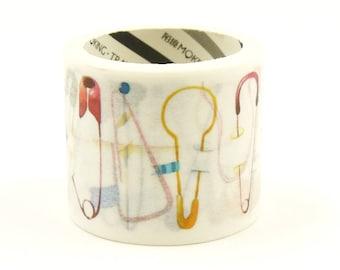 Pins - Japanese Washi Masking Tape - 35mm Wide - 3.3 Yard