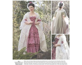 Simplicity Pattern 8578 Misses' 18th Century Gown sewing Pattern, Costume Pattern, Size 14-22, New uncut pattern