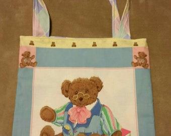 tote  bag handmade papa  bear shopping bag book bag  reusable grocery bag