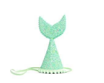 Mermaid Party Birthday Hat || Mermaid Birthday Hat || Mermaid Birthday || Ariel Under the Sea