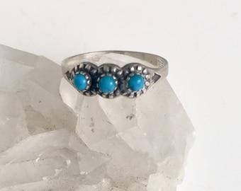 vintage Wheeler turquoise trilogy ring, size 5