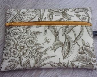 "New collection ""Nature"" multi-purpose Kit ""Sabine"". Fabric patterns / / Khaki, mustard and cream"