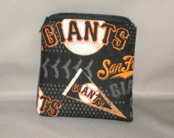 Giants - Baseball - Coin Purse - Gift Card Holder - Card Case -Small Padded Zippered Pouch - Mini Wallet - San Francisco