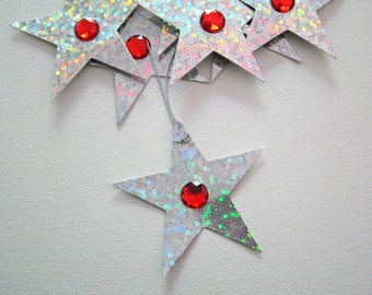 9pcs Hologram STAR & Rhinestone Tags / Embellishments