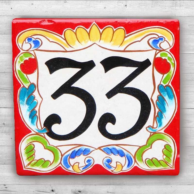 Num ros de maison en c ramique plaque num ro de maison for Plaque numero maison design