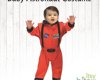 Astronaut Halloween Baby Costume Personalized Astronaut Outfit One Piece Baby Romper Space Suit Astronaut Romper Halloween Baby Costume