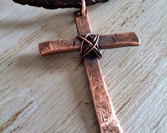 Personalized Mens Cross  Necklace - Mens Cross Necklace - Mens Cross Pendant - Anniversary Gift for Him - Christian Jewelry
