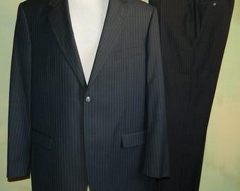 Men's Small Suit Jacket - Designer Ted Lapidus - 1950s-Inspired Gangster Look Men's Cashmere Sport Coat - 80s Does 50s - Chest 39 - 34986 zBaoKxtr89