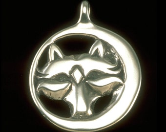 Wolf Pendant / Necklace - Nature Collection - Silver Symbolic Jewelry by K Robins