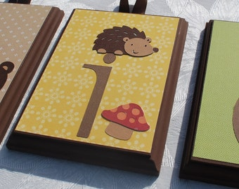 "5"" x 7"" Hanging wood wall letters . Charlie. Echo Nursery"
