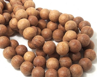 Unfinished Bayong Wood, 12mm, Round, Smooth, Large, Natural Wood Beads, Full strand, 36pcs - ID 1787