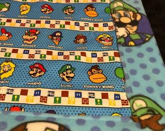 Nintendo stripe blanket