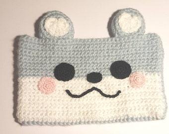 Prêt à envoyer/Pochette/Etui/coque pour téléphone portable en Crochet/mignon/animaux/cadeau
