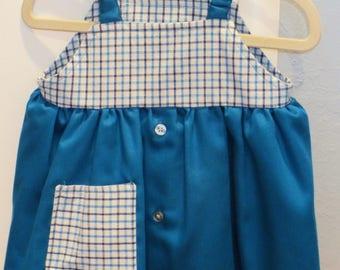 Girl/Infant/Baby Sundress/Repurpose/Upcycle/Men Shirt/Sundress/Jumper/Tunic