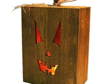 Halloween Jack o Lantern Cedar Box