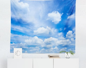 Sky Tapestry | Sky Wall Tapestry | Cloud Tapestry | Cloud Wall Tapestry | Sky Wall Decor | Sky Wall Hanging | Cloud Wall Decor | Cloud Wall