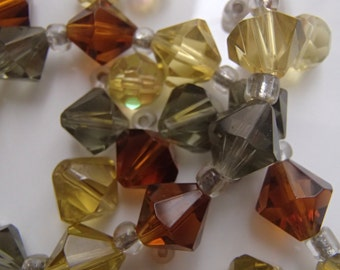Crystal Bead Destash Lot Bicones and Beads Natural Tones