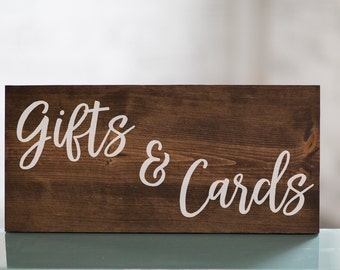Wedding Gifts & Card Table Wooden Sign Decor | Baby Shower Gift Table | Reception Decor | Cards and Gifts | Shower Decor | Wedding Decor