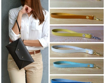 Leather wrist strap / Removable wrist strap / Wrist strap for clutch / Strap for your wristlet
