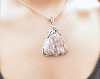 Pink Ocean Jasper Pendant