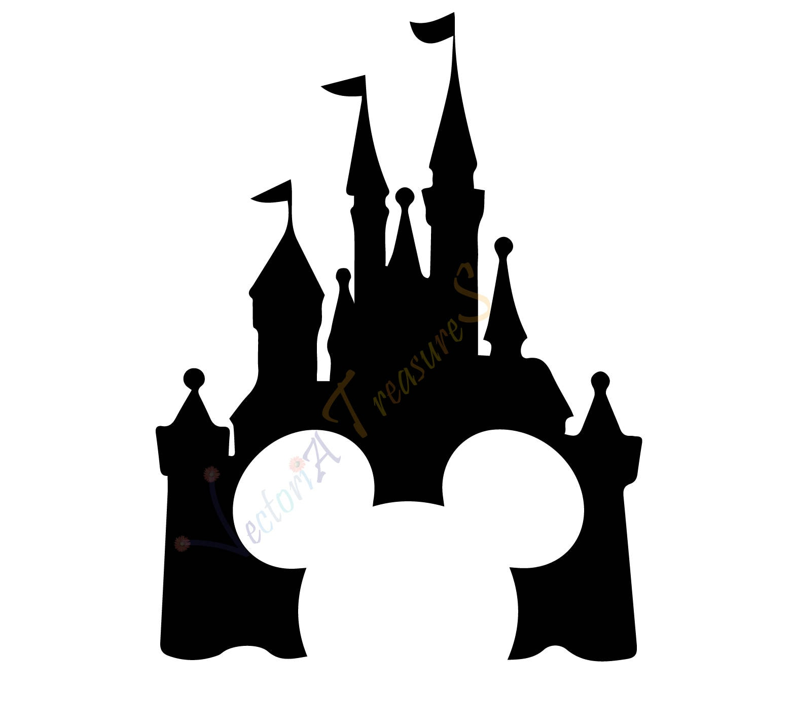 Disney Castle Svg Disney Castle Silhouette Disney Png