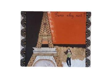 Paris, Paris on canvas, painting.