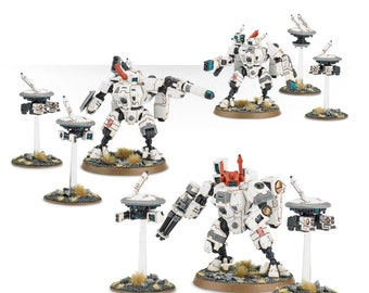 warhammer40k XV8 Crisis Battlesuit Team (multipart) wargames