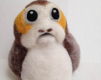 Wool Needle Felted Star Wars Porg